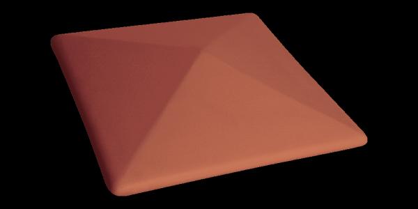 Клинкерный колпак для забора Рубиновый красный (01) Ruby-red