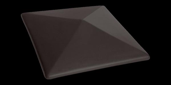 Клинкерный колпак для забора Вулканический черный (18) Volcanic black