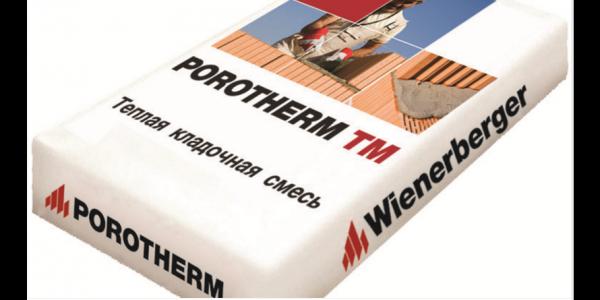 Тёплая кладочная смесь Porotherm TM